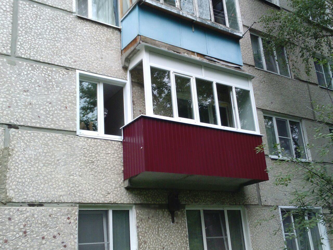 Балконы. крыши последних этажей. наружняя и внутренняя отдел.